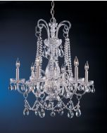 Crystorama 1030-CH-CL-MWP Traditional Crystal 6 Light Chandelier