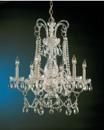 Crystorama 1030-PB-CL-S Traditional Crystal 6 Light Chandelier