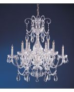 Crystorama 1035-CH-CL-SAQ Traditional Crystal 12 Light Chandelier