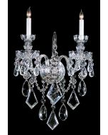 Crystorama 1042-CH-CL-MWP Traditional Crystal 2 Light Sconce