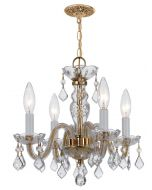 Crystorama 1064-PB-CL-MWP Traditional Crystal 4 Light Mini Chandelier