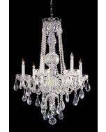 Crystorama 1105-CH-CL-S Traditional Crystal 6 Light Chandelier
