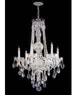 Crystorama 1106-CH-CL-MWP Traditional Crystal 6 Light Chandelier