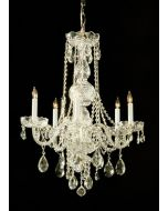 Crystorama 1106-PB-CL-MWP Traditional Crystal 6 Light Chandelier