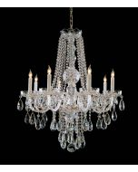 Crystorama 1108-PB-CL-MWP Traditional Crystal 8 Light Chandelier