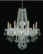Crystorama 1108-PB-CL-S Traditional Crystal 8 Light Chandelier