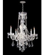 Crystorama 1115-CH-CL-SAQ Traditional Crystal 5 Light Chandelier