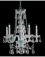 Crystorama 1125-CH-CL-S Traditional Crystal 5 Light Chandelier