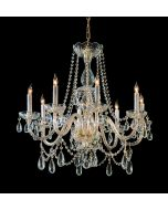Crystorama 1128-PB-CL-MWP Traditional Crystal 8 Light Chandelier