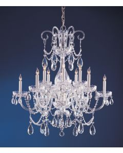 Crystorama 1035-CH-CL-MWP Traditional Crystal 12 Light Chandelier