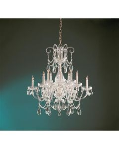 Crystorama 1035-PB-CL-S Traditional Crystal 12 Light Chandelier