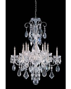 Crystorama 1045-CH-CL-MWP Traditional Crystal 12 Light Chandelier