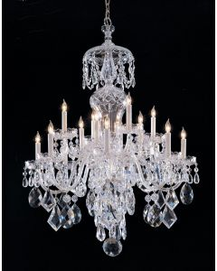 Crystorama 16 Light Clear Hand Cut chandelier with Polished Chrome finish - 1048-CH-CL-MWP