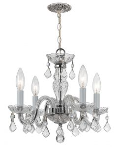 Crystorama 1064-CH-CL-MWP Traditional Crystal 4 Light Mini Chandelier