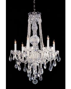 Crystorama 1105-CH-CL-MWP Traditional Crystal 6 Light Chandelier