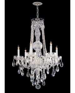 Crystorama 1106-CH-CL-S Traditional Crystal 6 Light Chandelier