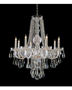 Crystorama 1108-CH-CL-S Traditional Crystal 8 Light Chandelier