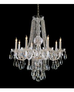 Crystorama 1108-CH-CL-SAQ Traditional Crystal 8 Light Chandelier
