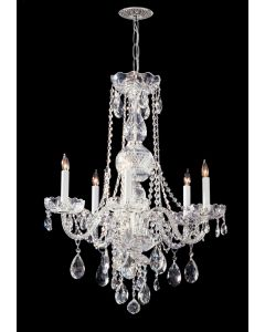 Crystorama 1115-CH-CL-MWP Traditional Crystal 5 Light Chandelier