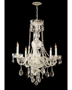 Crystorama 1115-PB-CL-S Traditional Crystal 5 Light Chandelier