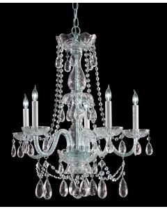 Crystorama 1125-CH-CL-SAQ Traditional Crystal 5 Light Chandelier