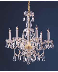 Crystorama 1126-PB-CL-MWP Traditional Crystal 6 Light Chandelier