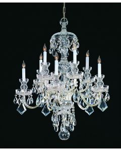 Crystorama 1140-CH-CL-SAQ Traditional Crystal 10 Light Chandelier