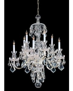 Crystorama 1140-PB-CL-MWP Traditional Crystal 10 Light Chandelier