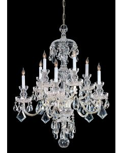 Crystorama 1140-PB-CL-S Traditional Crystal 10 Light Chandelier
