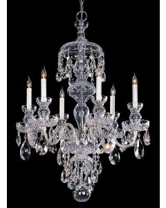Crystorama 1146-CH-CL-MWP Traditional Crystal 6 Light Chandelier