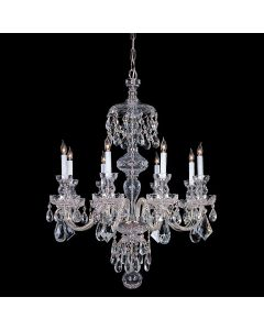 Crystorama 1148-CH-CL-MWP Traditional Crystal 8 Light Chandelier