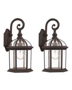 Trans Globe Lighting 4181-2 BK Wall Lantern