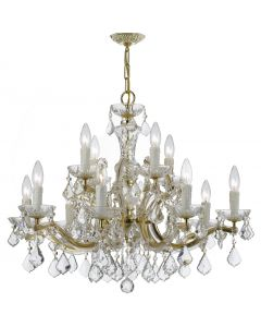 Crystorama 4379 Maria Theresa 12 Light Chandelier