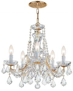 Crystorama 4476 Maria Theresa 5 Light Mini Chandelier