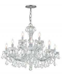 Crystorama 4479 Maria Theresa 12 Lights Crystal Chandelier