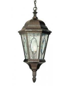 Trans Globe Lighting 4717 BG Watered Windows 1 Light Hanging Lantern