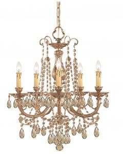 Crystorama 475 Etta 5 Light Chandelier