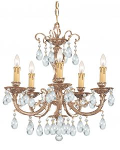 Crystorama 495 Etta 5 Light Chandelier