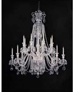 Crystorama 8 Light crystal Chandelier - 5028-CH-CL