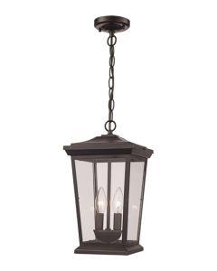 Trans Globe Lighting 50774-BK Turlock 2 Light Outdoor Hanging Lantern