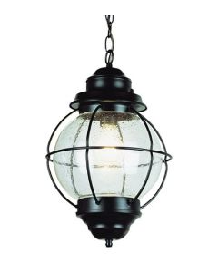 Trans Globe Lighting 69906-BK Catalina 1 Light Outdoor Hanging Lantern