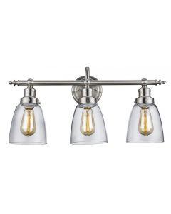 Trans Globe Lighting 70833 BN 3 Light Vanity Light