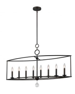 Crystorama 9168-EB Cameron 8 Light Chandelier