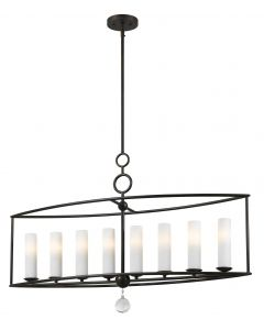 Crystorama 9268-EB Cameron 8 Light Chandelier