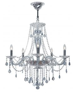 Crystorama 1 Light crystal Chandelier - 9836-CH