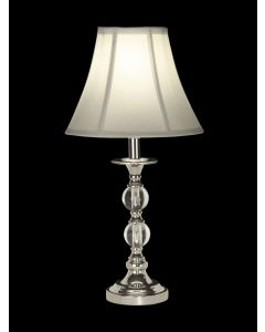 Dale Tiffany 1 bulb Table Lamps with Polished Chrome finish - GT10169