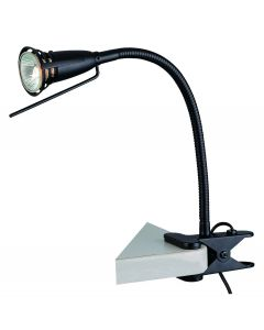 Lite Source 1 light clip-on lamp - LS-156BLK