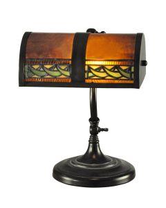 Dale Tiffany 1 bulb Desk Lamps with Mica Bronze finish - TA100682