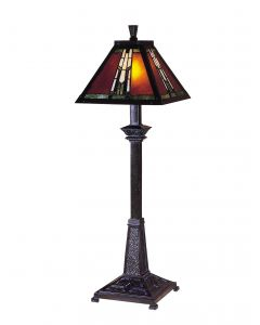 Dale Tiffany 1 bulb Buffet Lamps with Mica Bronze finish - TB100715