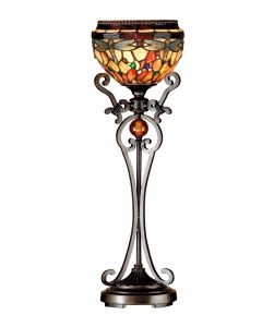 Dale Tiffany 1 bulb Buffet Lamps with Antique Bronze/Sand finish - TB13067